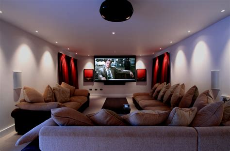 Home Theatre Interior Design by Kent Home Home Movie Room Installation Dual Screen 7 1
