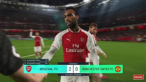 arsenal pes 2018 aubameyang arsenal pes 2018 youtube