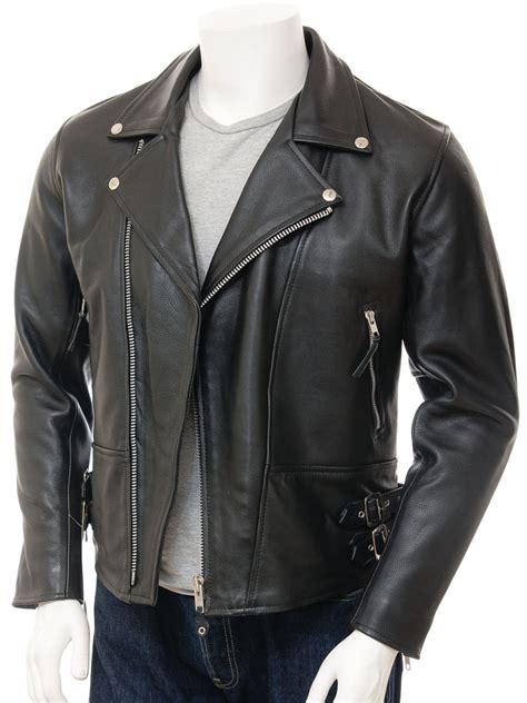 black motorcycle jacket mens mens black biker leather jacket ashford men caine