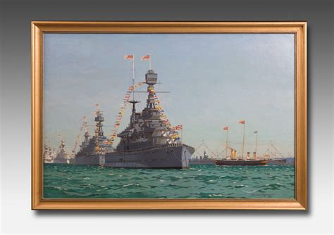 norman wilkinson painting   fleet review wick antiques
