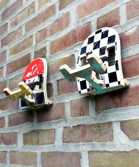 skateboard home design beautifully battered skateboards as home decor hooks