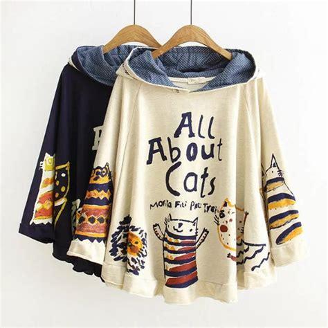 Hoodie Cat Abu 3 Wisata Fashion Shop hoodie mori style pancho harajuku all about cat autumn