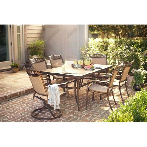 Woodbury 7 Patio Dining Set by Outdoor Dining Sets Patio Furniture The Home Depot