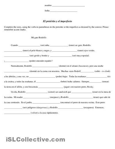 Preterite Vs Imperfect Worksheet by 17 Best Images Of Preterite Ar Verbs Worksheets