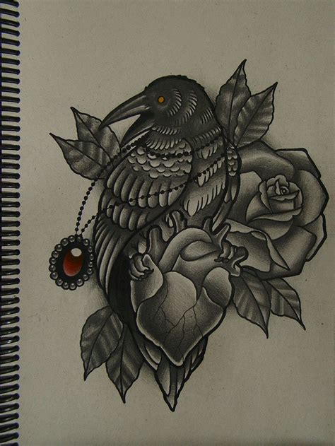 traditional crow tattoo 38 best traditional drawing images on