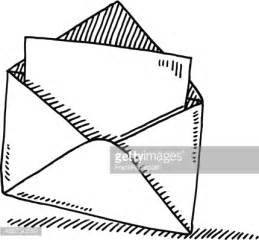 open envelope letter symbol drawing vector getty images