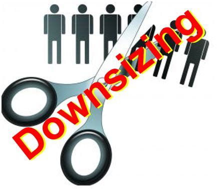how to downsize what is downsizing reasons why companies downsize