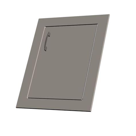door insert lazyman left stainless steel door insert front