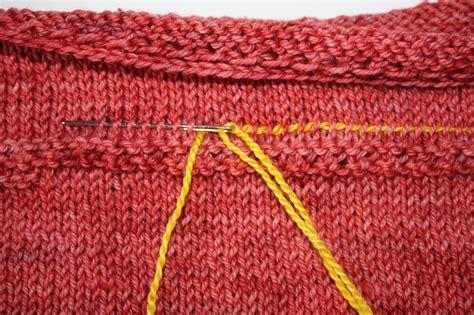 fix in knitting lifeline in knitting