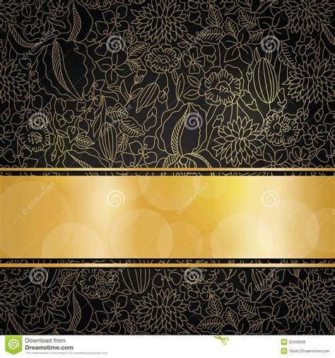 gold pattern on black background golden floral background stock vector illustration of