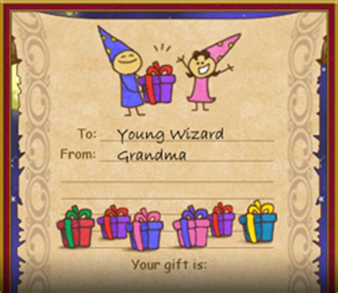 Wizard101 Free Gift Cards - gift certificates wizard101 free online game