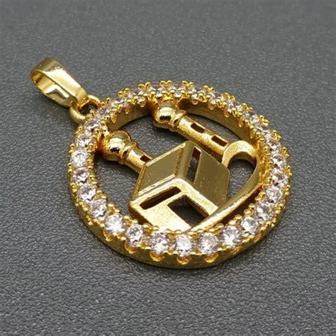 Cincin Nama Spiral Lapis Emas Asli 24 Karat Bisa Custom Nama liontin motif ka bah lapis emas pusaka dunia