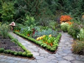 gardener in a forest potager inspiration for your garden