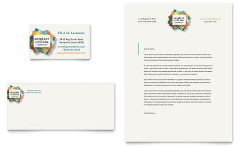 workshop card template writer s workshop business card letterhead template design
