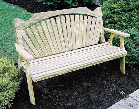 pine garden bench treated pine fanback garden bench