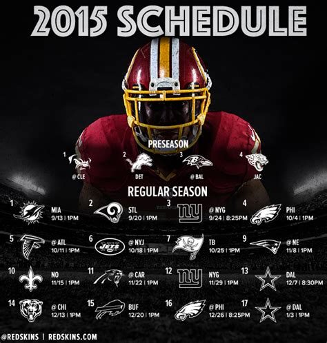 thoughts redskins 2015 schedule