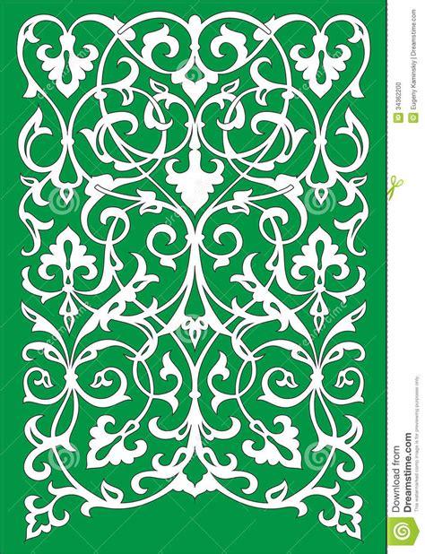 Motif Flower Hijau islamic floral motifs in