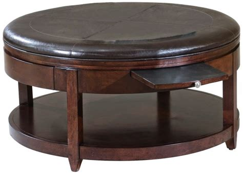 ottoman end table furniture elegant leather coffee table ideas round