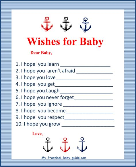 baby shower games templates free download nautical baby shower theme ideas my practical baby