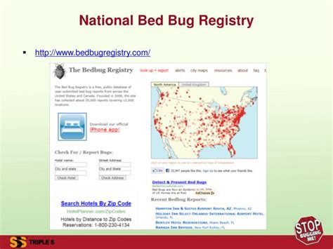 bed bug registry bed bug hotel registry ppt finally a safe and effective