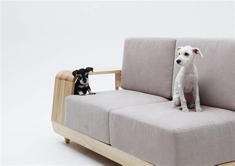 dog house attached to house this sofa with attached dog house
