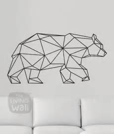 Painting Graffiti On Bedroom Walls Geometric Bear Wall Decal Geometric Animals Decor Bear Wall