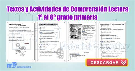 lectora para primer a tercer grado de primaria material educativo textos y actividades de comprensi 243 n lectora 1 186 a 6 186 grado