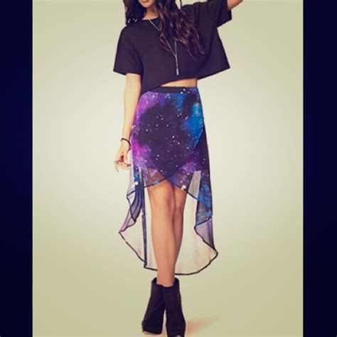 galaxy high low skirt from jas s closet on poshmark