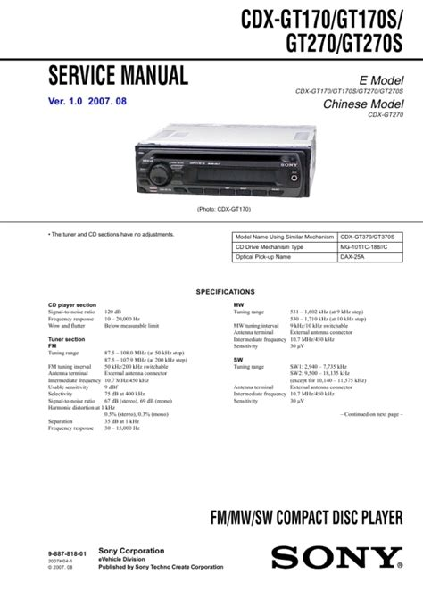 sony cdx ra700 wiring diagram wiring diagram and