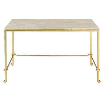 gold and white writing desk delano desk i cottage and bungalow