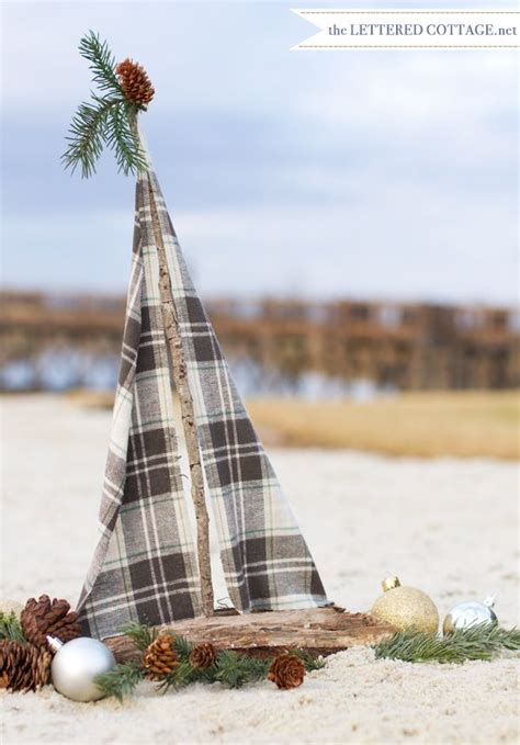 deck out your boat deck out your driftwood sailboat for christmas sea 16