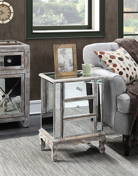 Mirrored Dresser And Nightstand Set by Mirrored Nightstands Amazoncom Set Of 2 Mirrored