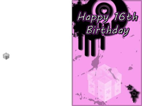 printable birthday cards sweet 16 sweet 16 pink birthday cards
