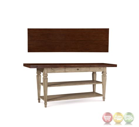 cream sofa table the foundry flip top shelved sofa table in brown and