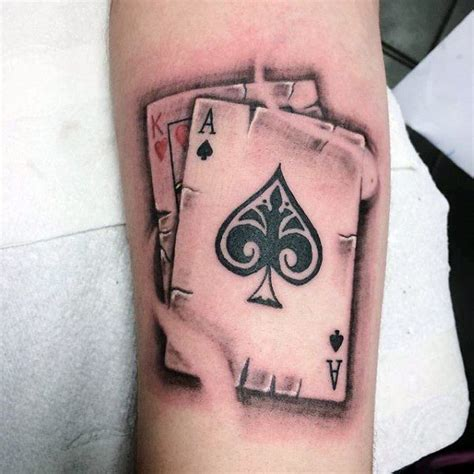 ace of hearts tattoo 41 best ace design ideas