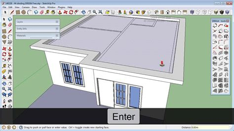 membuat video animasi dari sketchup sketchup 8 1001bit free rumah model 140228 7 membuat atap
