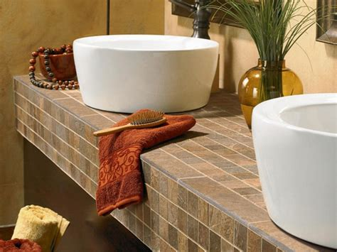 diy bathroom tile ideas 5 best bathroom vanity countertop options