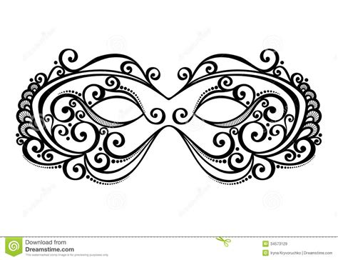 masquerade mask template for adults masquerade mask beautiful vector patterned design 34573129