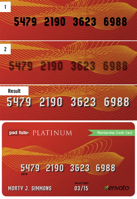 how to make a credit card number tip create a realistic credit card in photoshop