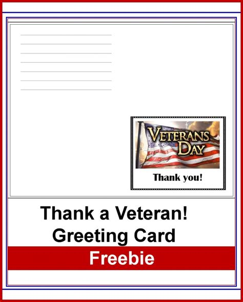 veterans day 2015 printable cards free thank a veteran greeting card free homeschool deals