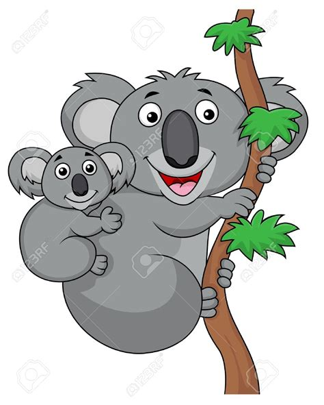 imagenes animadas koala koala clipart mother and baby pencil and in color koala
