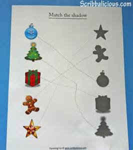 christmas worksheets for preschoolers preschool