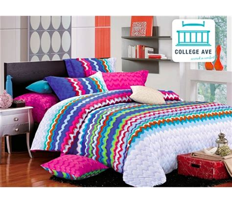 xl college bedding rainbow splash xl comforter set college ave