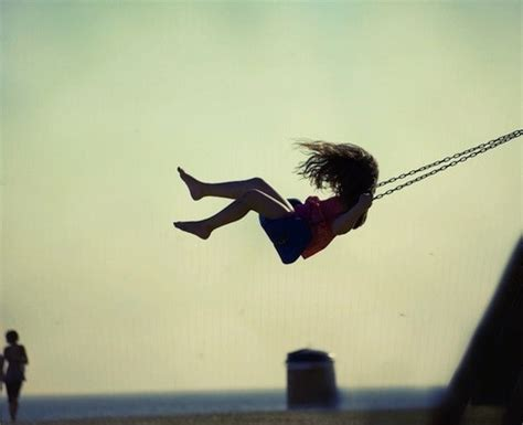 freedom swing alone beautiful child childhood cool freedom image