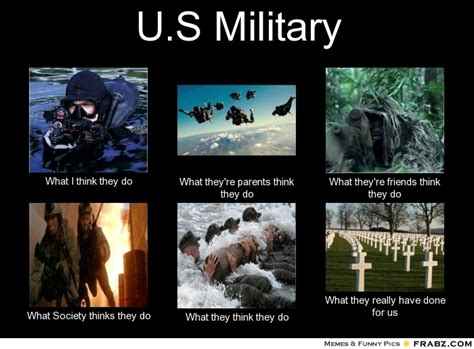 What They Think I Do Meme - military what they think i do meme