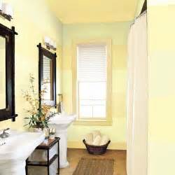 Small Bathroom Painting Ideas small bathroom painted with pale green and yellow stripes