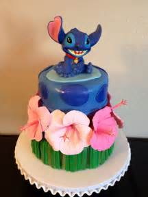 lilo and stitch cake with gum paste hibiscus flowers cakes by denise pinterest