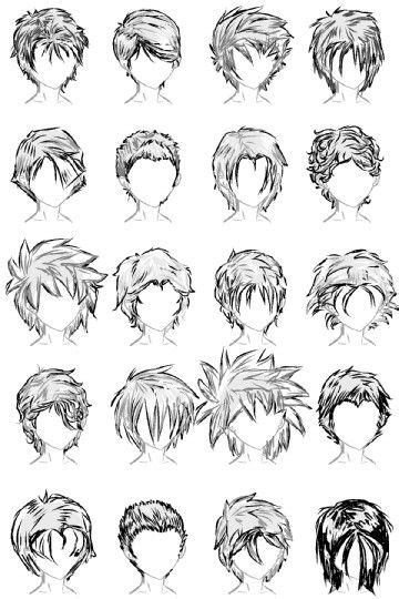 cartoon guy hairstyles 20 male hairstyles by lazycatsleepsdaily on deviantart