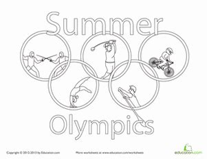 summer olympics worksheet education com