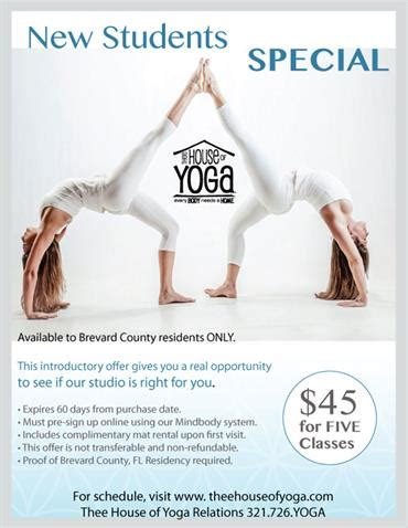 thee house of yoga promotions special offerings thee house of yoga